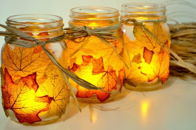 Fall Leaf Mason Jar Tutorial