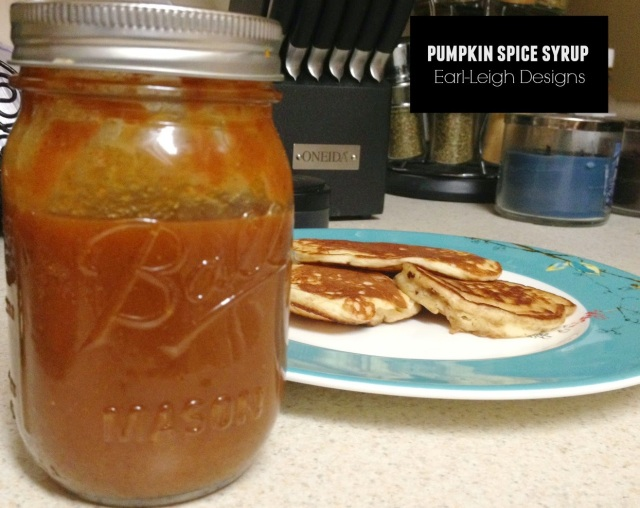 Pumpkin Spice Syrup via Earl-Leigh Designs
